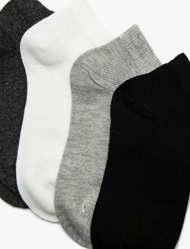Koton Kids 4'lü Erkek Çocuk Çorap Siyah